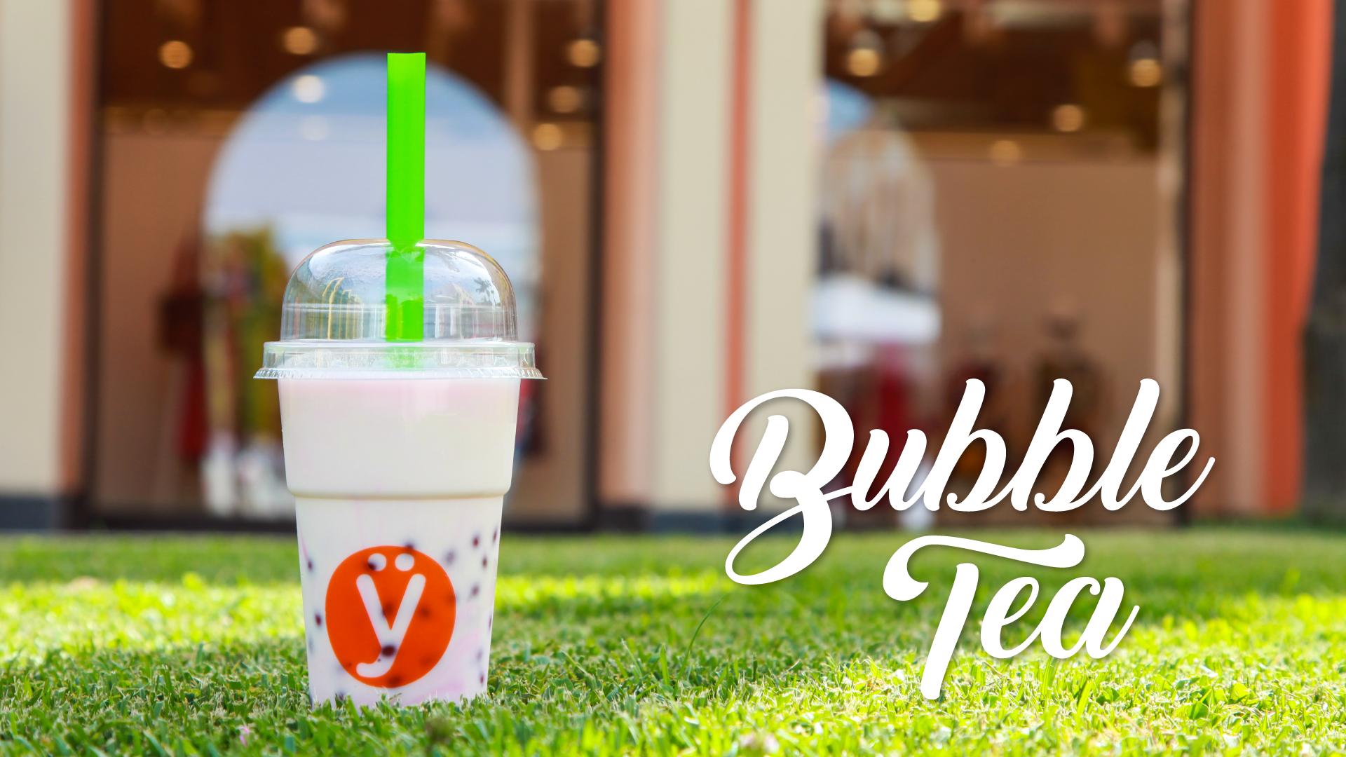 Bubble Tea con Tè, Frozen Yogurt, Sciroppi e Boba de la Yogurteria